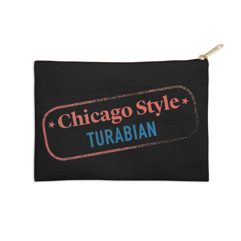 Stamp of Approval, Black Accessories Zip Pouch by Chicago Manual of Style