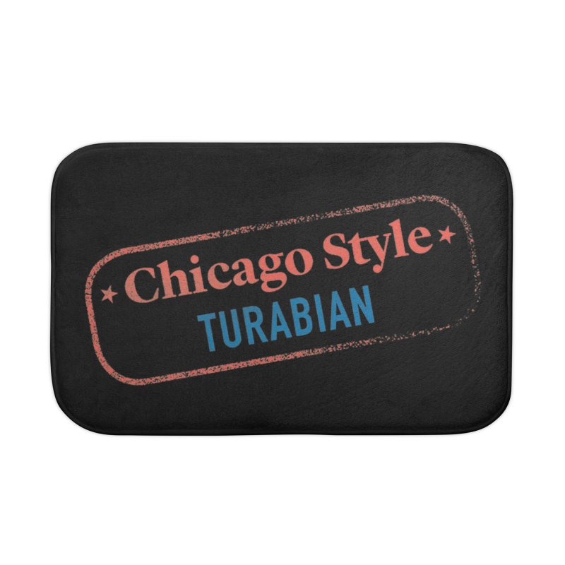 Chicago-Style Stamp of Approval, Black Home Goods Bath Mat by Chicago Manual of Style