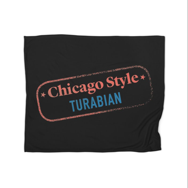 Stamp of Approval, Black Home Blanket by Chicago Manual of Style