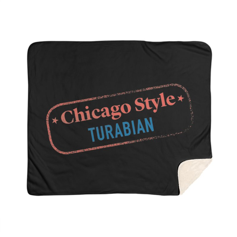 Stamp of Approval, Black Home Sherpa Blanket Blanket by Chicago Manual of Style