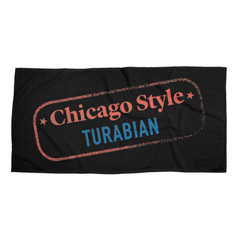 Chicago-Style Stamp of Approval, Black Accessories Beach Towel by Chicago Manual of Style
