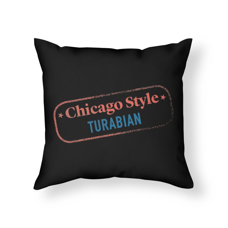 Stamp of Approval, Black Home Throw Pillow by Chicago Manual of Style