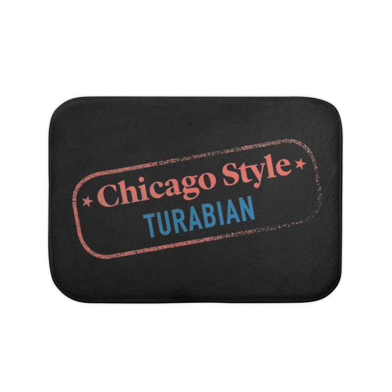 Stamp of Approval, Black Home Bath Mat by Chicago Manual of Style