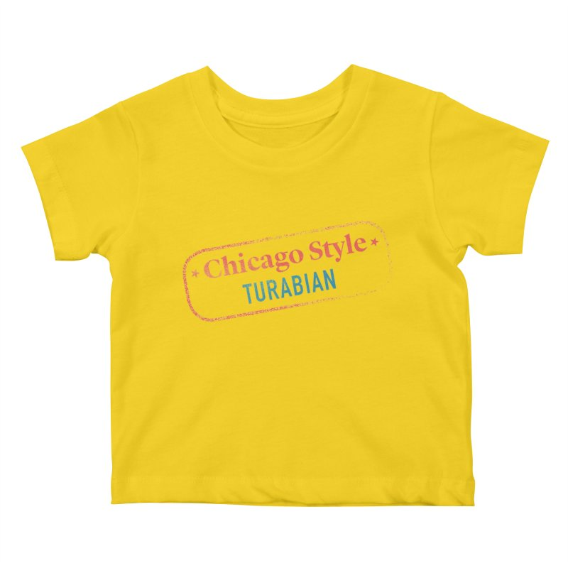 Chicago-Style Stamp of Approval, Black Kids Baby T-Shirt by Chicago Manual of Style