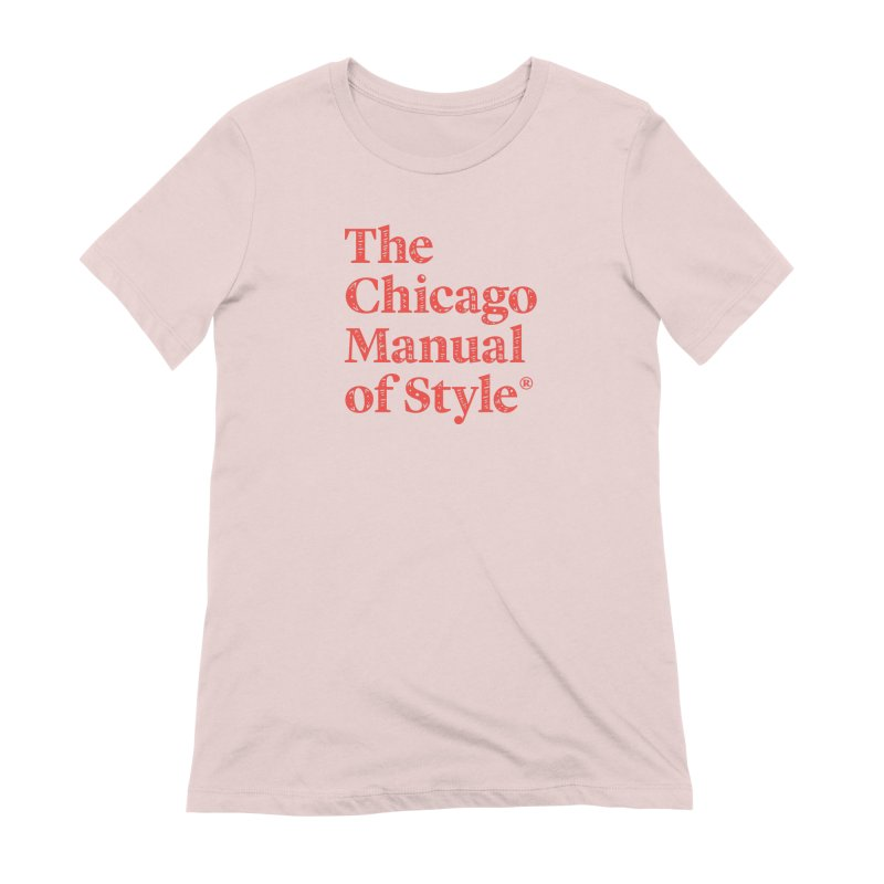 Classic Logo, Red Whimsy Women's Extra Soft T-Shirt by Chicago Manual of Style