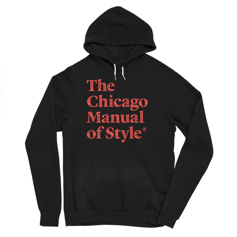Classic Logo, Red Whimsy Women's Sponge Fleece Pullover Hoody by Chicago Manual of Style