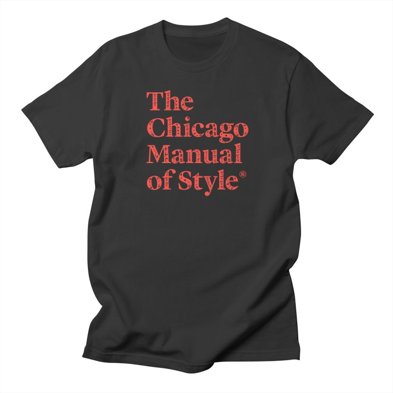 Classic Logo, Red Whimsy Women's Regular Unisex T-Shirt by Chicago Manual of Style