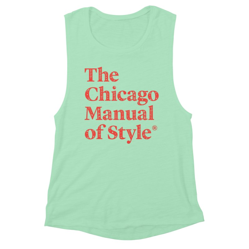 Classic Logo, Red Whimsy Women's Muscle Tank by Chicago Manual of Style