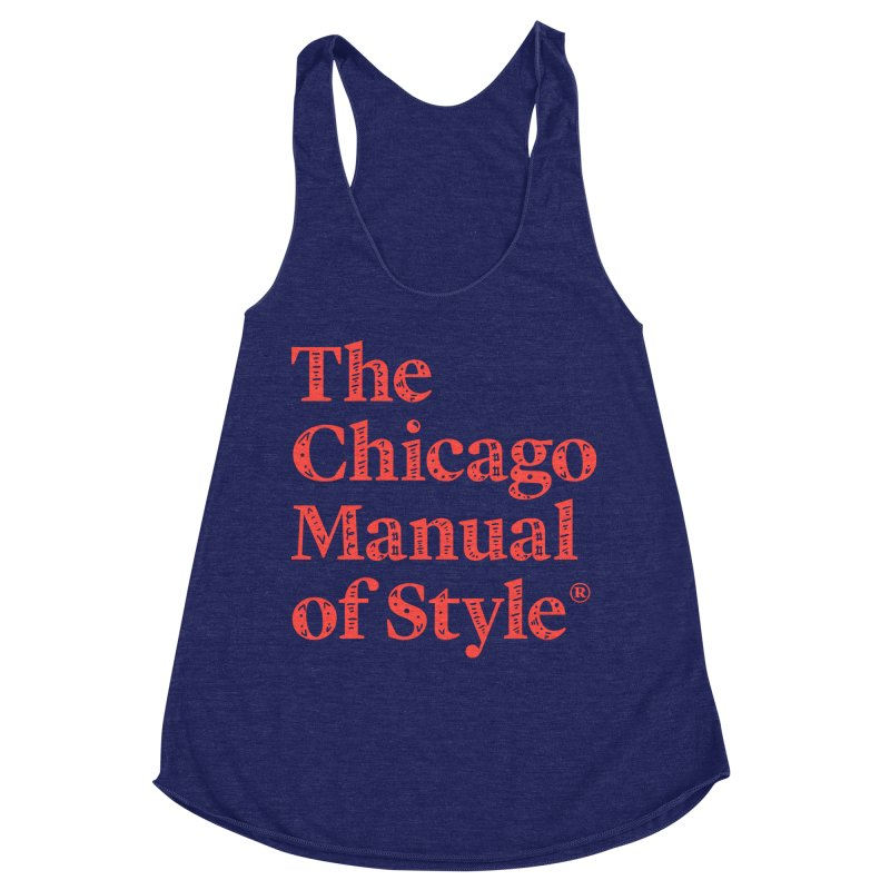 Classic Logo, Red Whimsy Women's Racerback Triblend Tank by Chicago Manual of Style