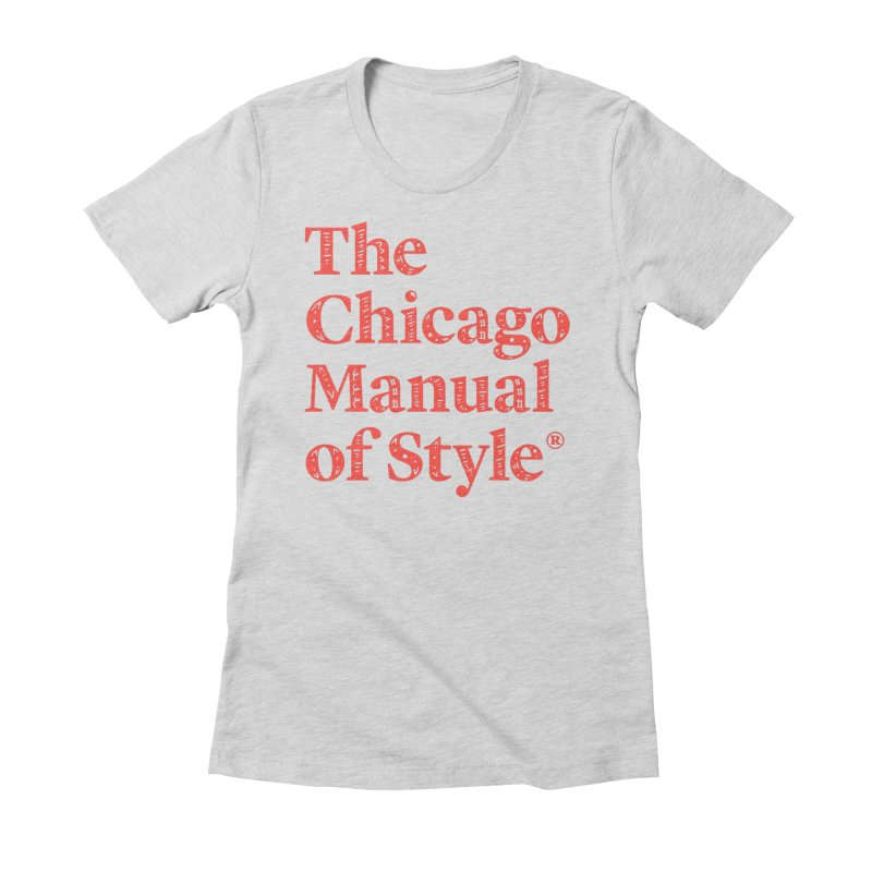 Classic Logo, Red Whimsy Women's Fitted T-Shirt by Chicago Manual of Style