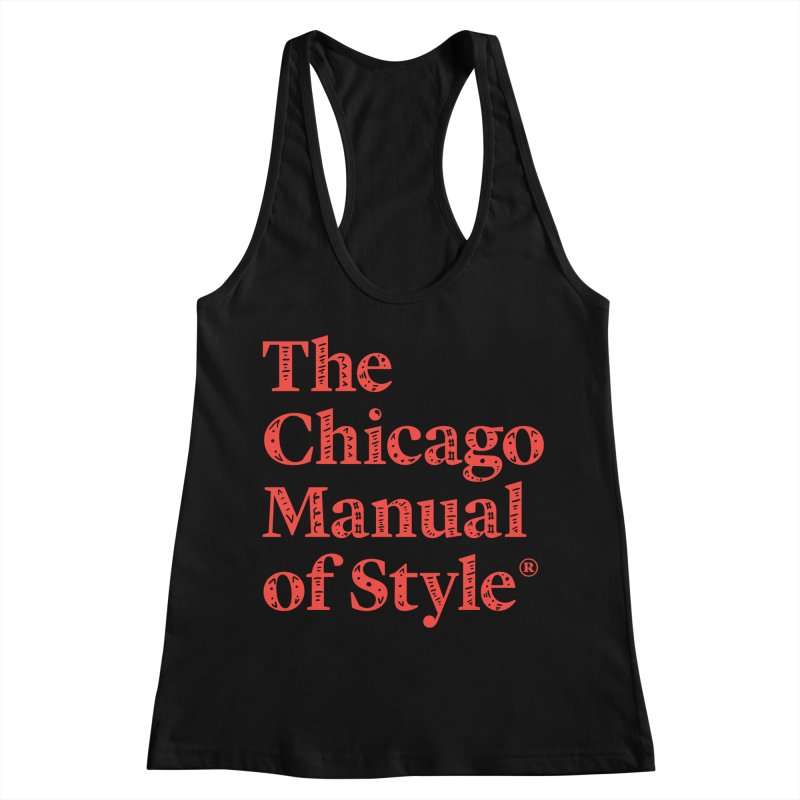 Classic Logo, Red Whimsy Women's Racerback Tank by Chicago Manual of Style