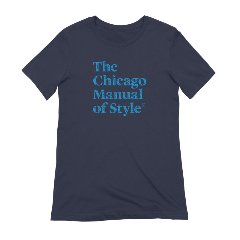 Classic Logo, Blue Whimsy Women's Extra Soft T-Shirt by Chicago Manual of Style