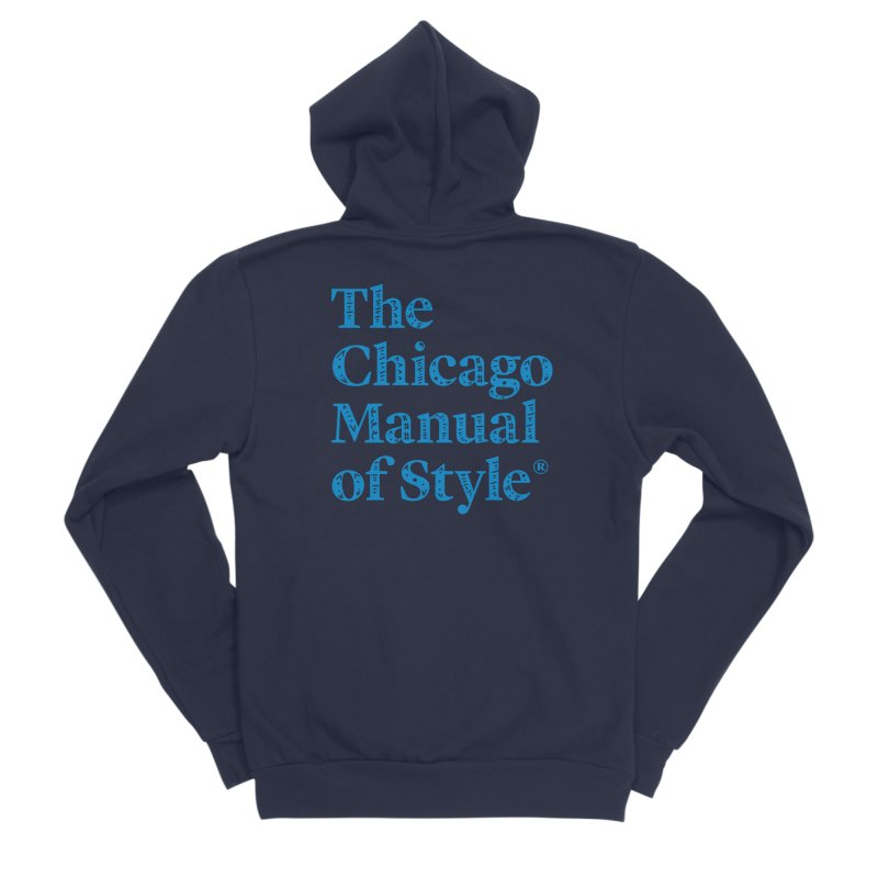 Classic Logo, Blue Whimsy Women's Sponge Fleece Zip-Up Hoody by Chicago Manual of Style