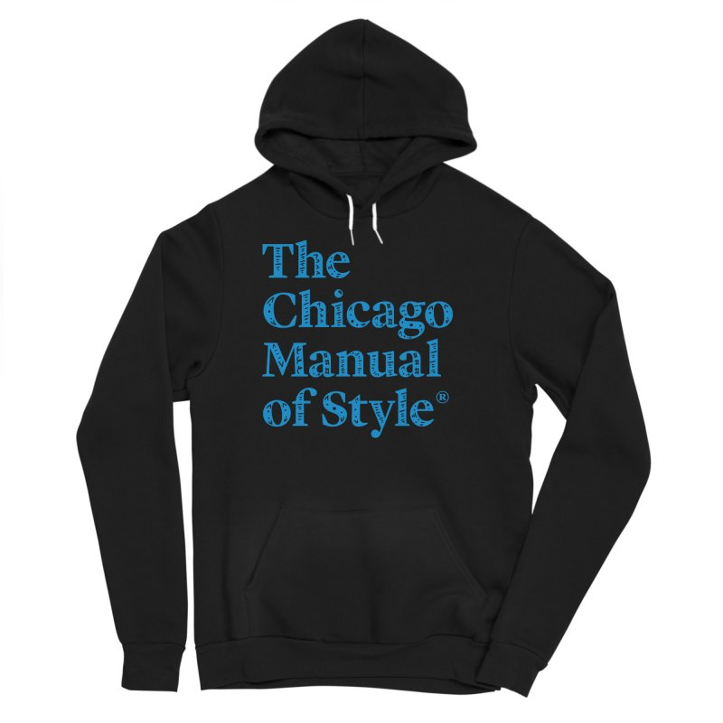 Classic Logo, Blue Whimsy Women's Sponge Fleece Pullover Hoody by Chicago Manual of Style