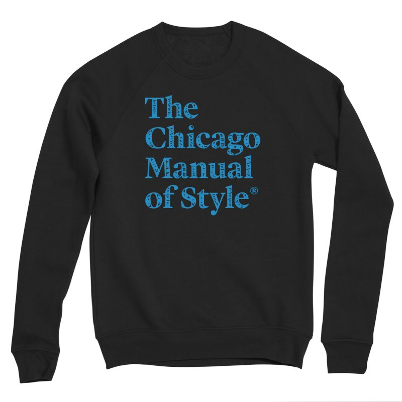 Classic Logo, Blue Whimsy Women's Sponge Fleece Sweatshirt by Chicago Manual of Style