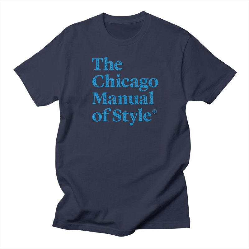 Classic Logo, Blue Whimsy Women's Regular Unisex T-Shirt by Chicago Manual of Style