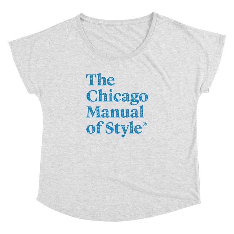 Classic Logo, Blue Whimsy Women's Dolman Scoop Neck by Chicago Manual of Style