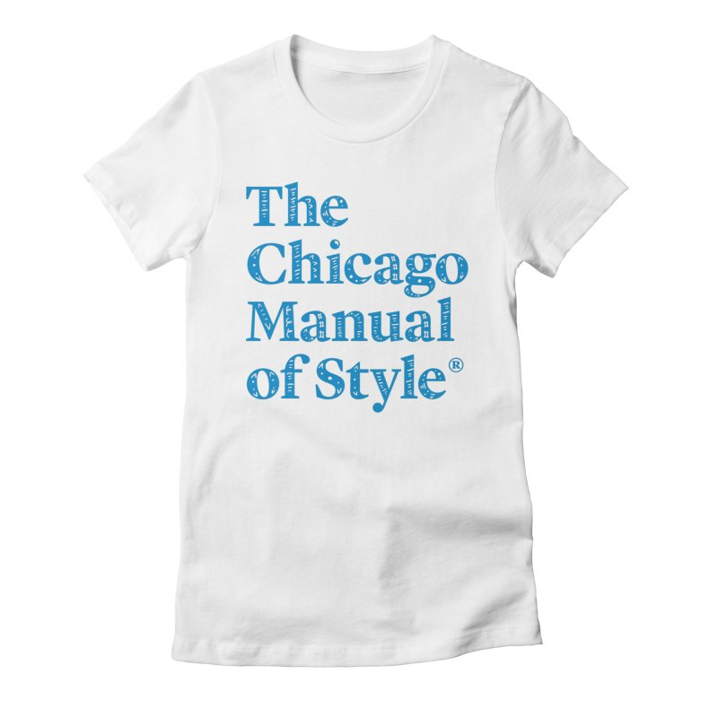 Classic Logo, Blue Whimsy Women's Fitted T-Shirt by Chicago Manual of Style
