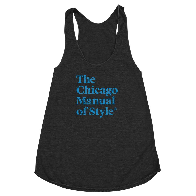 Classic Logo, Blue Whimsy Women's Racerback Triblend Tank by Chicago Manual of Style
