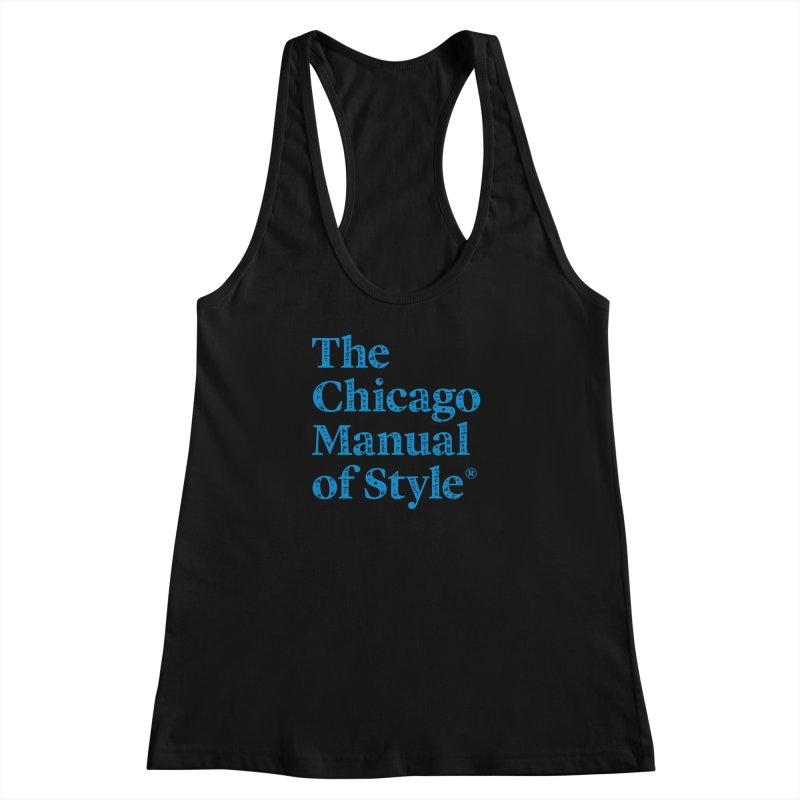 Classic Logo, Blue Whimsy Women's Racerback Tank by Chicago Manual of Style