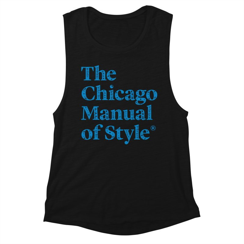 Classic Logo, Blue Whimsy Women's Muscle Tank by Chicago Manual of Style