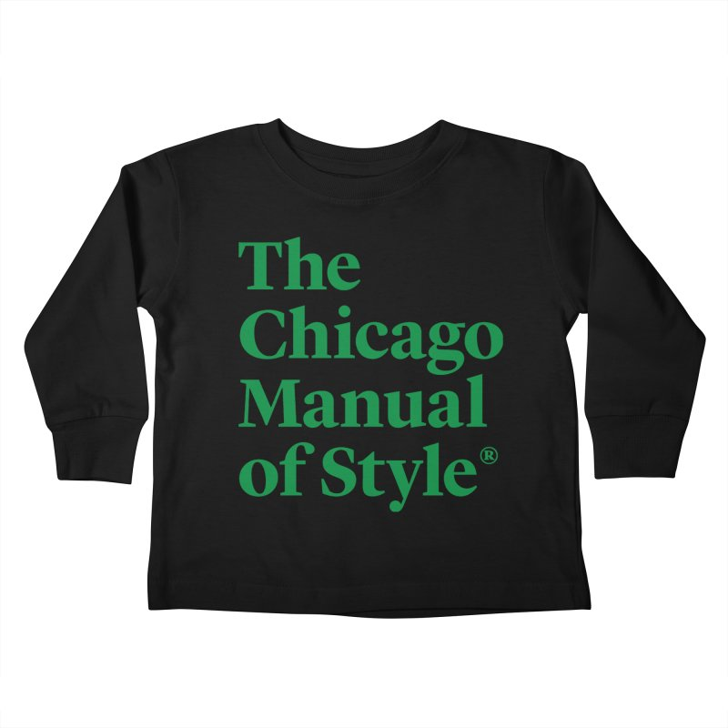 Irish Eyes Are Smiling Kids Toddler Longsleeve T-Shirt by Chicago Manual of Style
