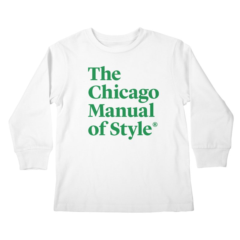 Irish Eyes Are Smiling Kids Longsleeve T-Shirt by Chicago Manual of Style