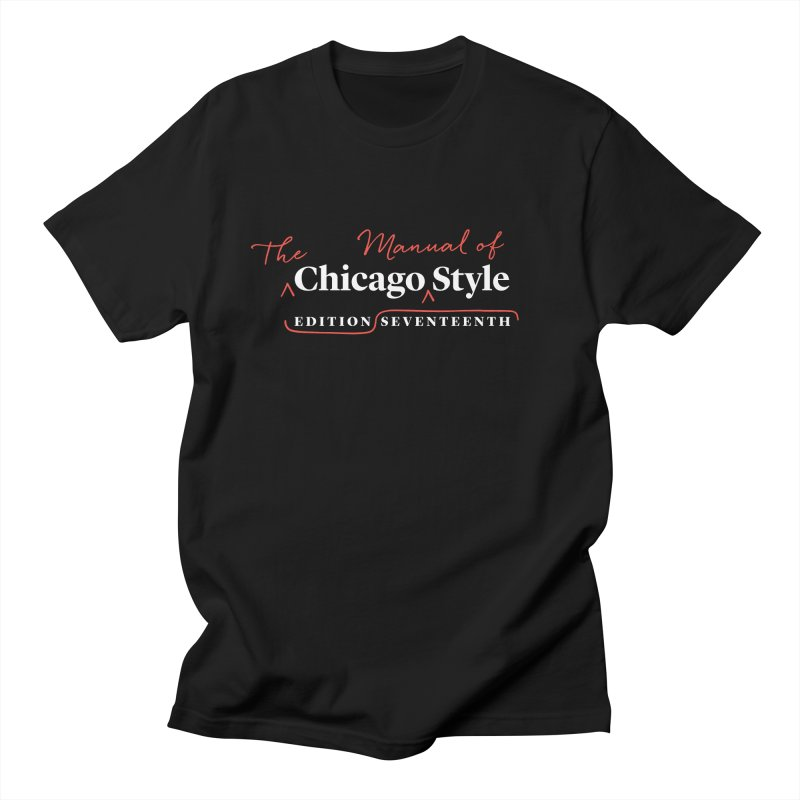 Chicago Style Copyedit, White + Red / Men's & Kids' Apparel Men's Regular T-Shirt by Chicago Manual of Style