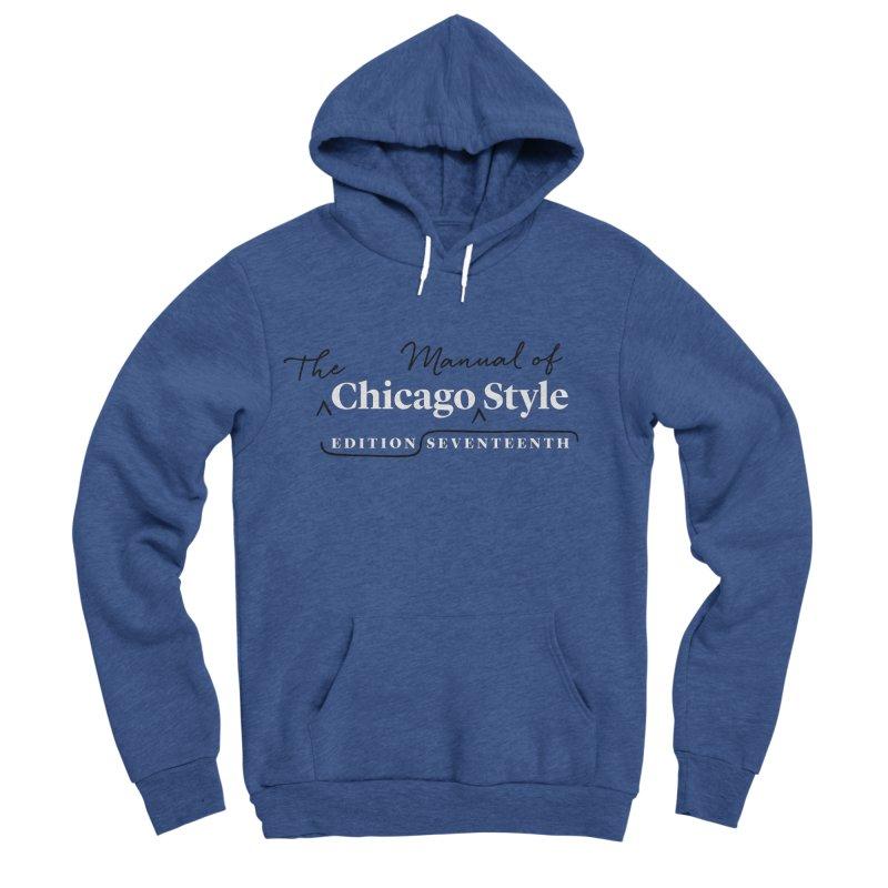 Chicago Style Copyedit, White + Black / Men's & Kids' Apparel Men's Sponge Fleece Pullover Hoody by Chicago Manual of Style