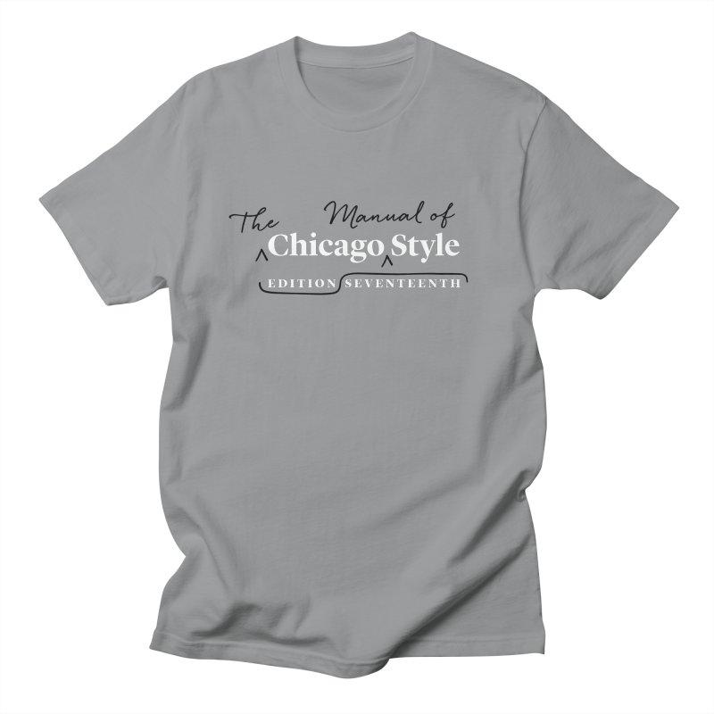 Chicago Style Copyedit, White + Black / Men's & Kids' Apparel Men's Regular T-Shirt by Chicago Manual of Style