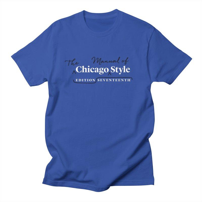 Chicago Style, White + Black / Men's & Kids' Apparel Men's Regular T-Shirt by Chicago Manual of Style