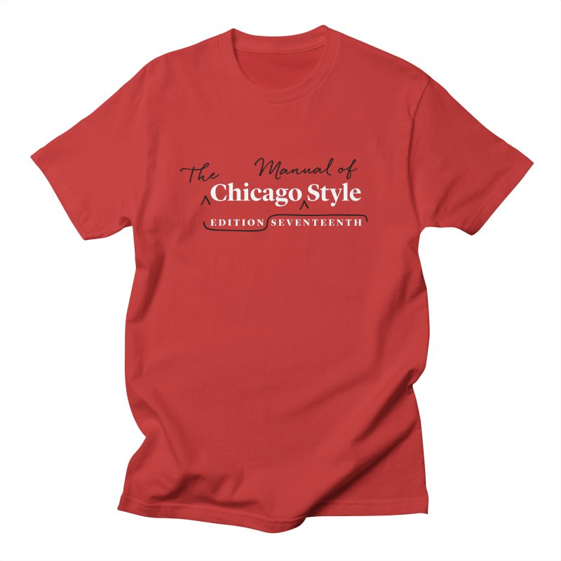 Chicago Style Copyedit, White + Black / Men's & Kids' Apparel Men's Regular T-Shirt by Chicago Manual of Style