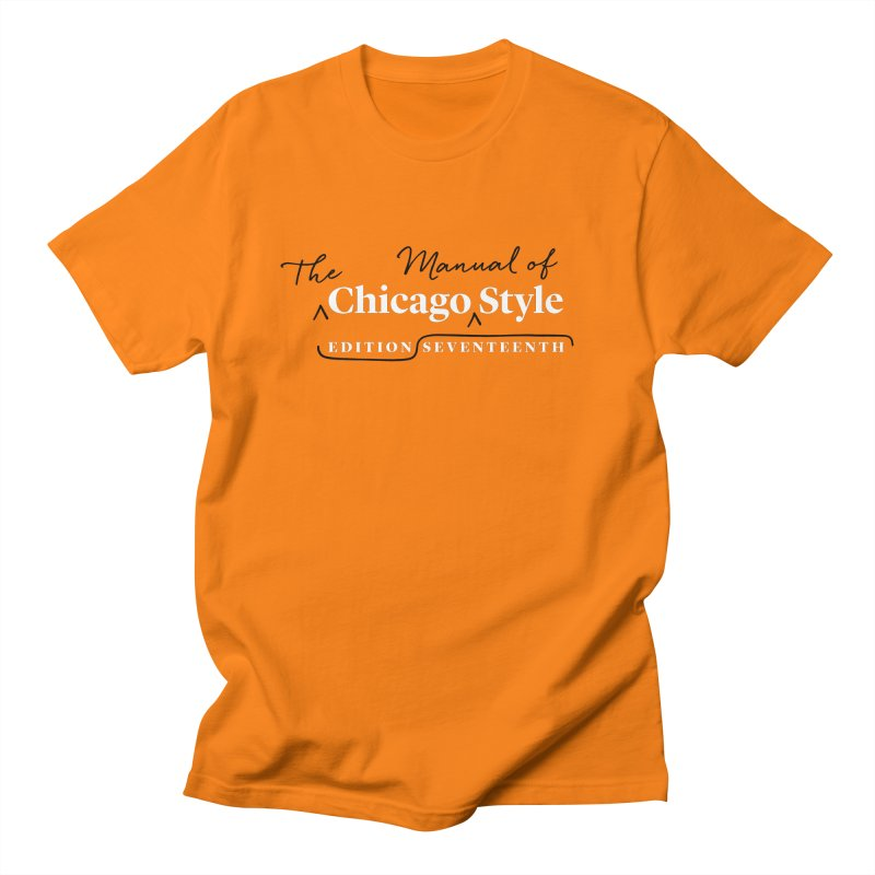 Chicago Style, White + Black / Men's & Kids' Apparel Men's Regular T-Shirt by Chicago Manual of Style