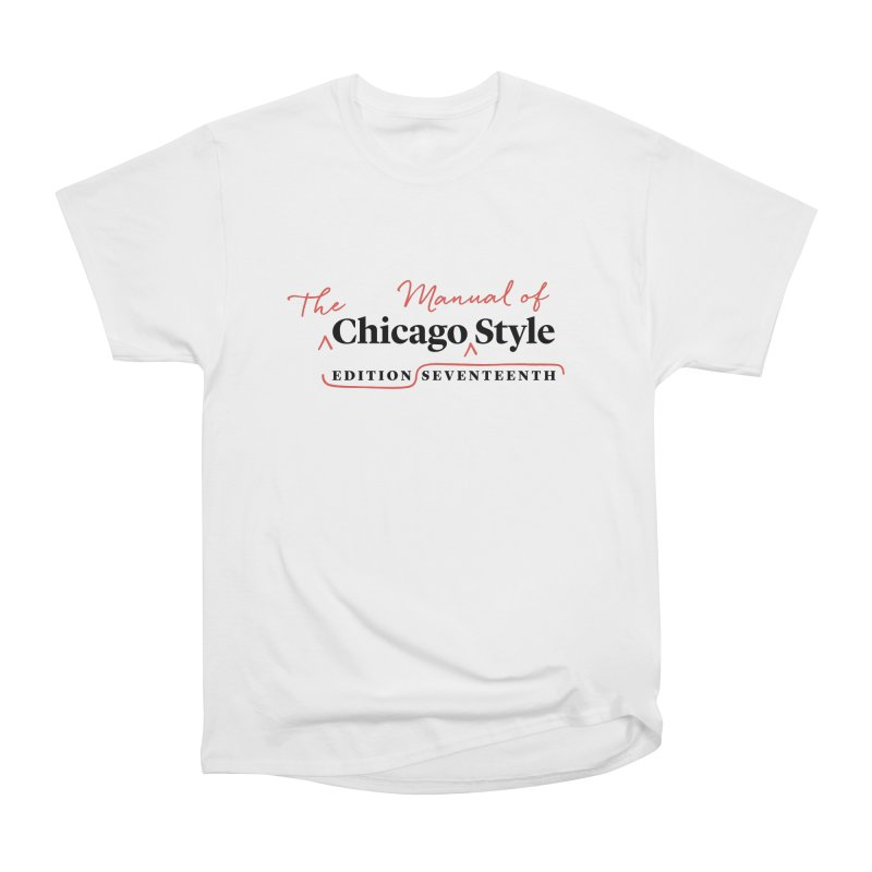 Chicago Style, Black + Red / Men's & Kids' Apparel Men's T-Shirt by Chicago Manual of Style