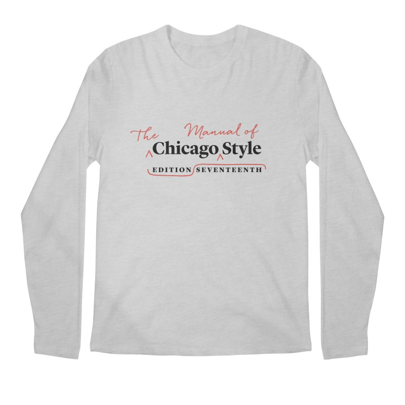 Chicago Style, Black + Red / Men's & Kids' Apparel Men's Longsleeve T-Shirt by Chicago Manual of Style