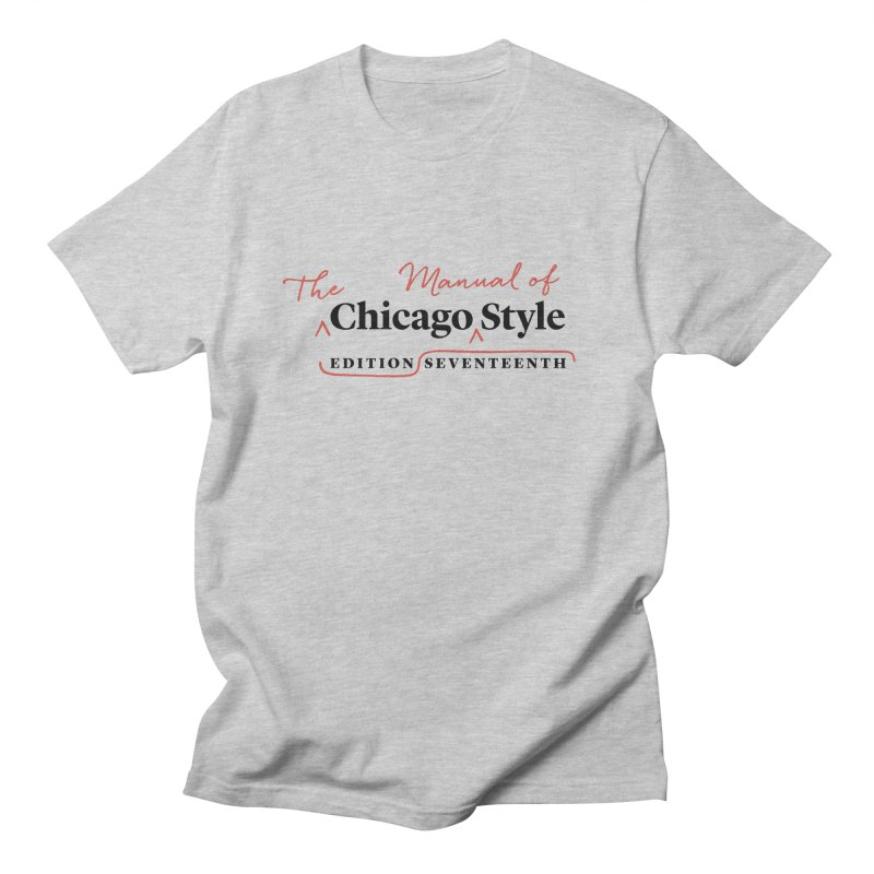 Chicago Style, Black + Red / Men's & Kids' Apparel Men's Regular T-Shirt by Chicago Manual of Style