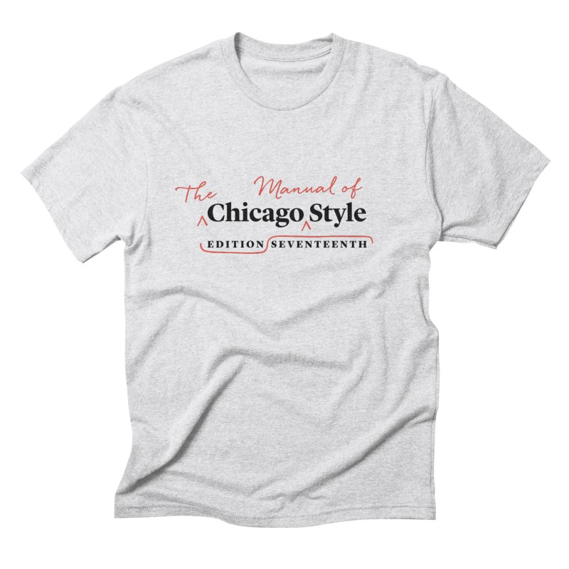 Chicago Style, Black + Red / Men's & Kids' Apparel Men's Triblend T-Shirt by Chicago Manual of Style