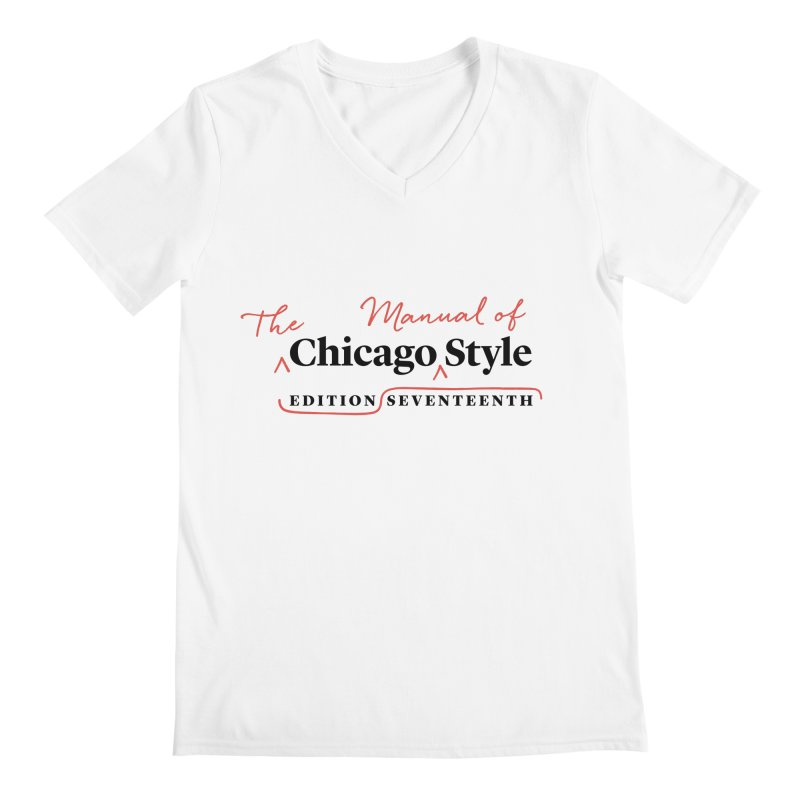 Chicago Style, Black + Red / Men's & Kids' Apparel Men's Regular V-Neck by Chicago Manual of Style