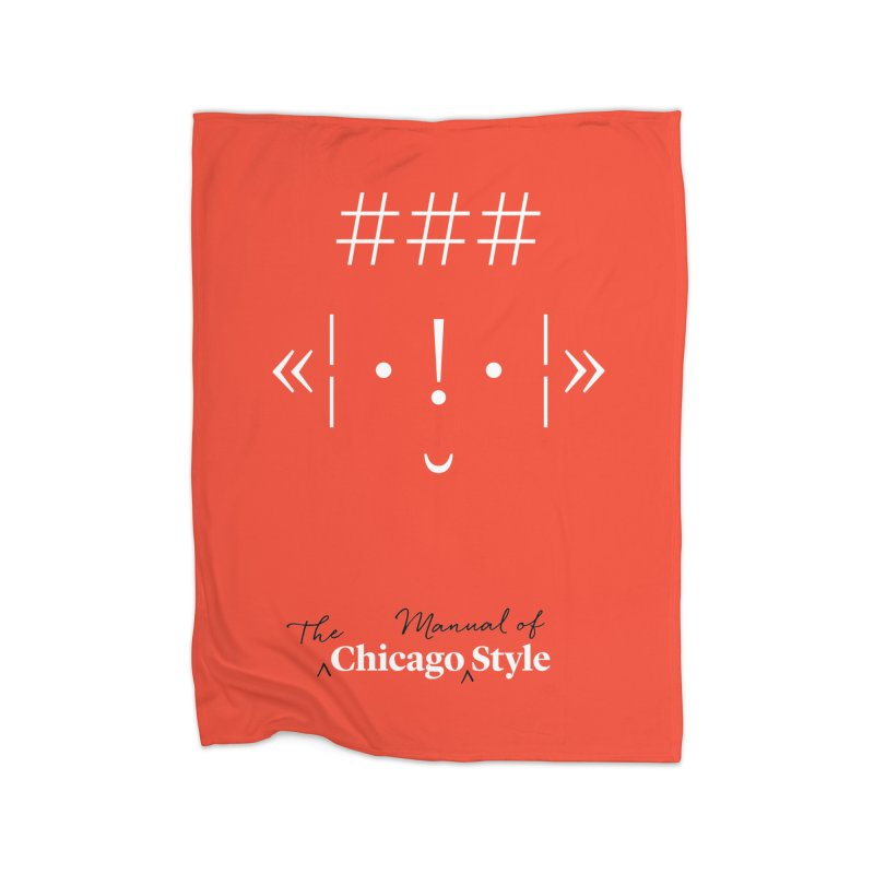Chicago Style Buddy, White + Black / Kids' Apparel Home Fleece Blanket Blanket by Chicago Manual of Style