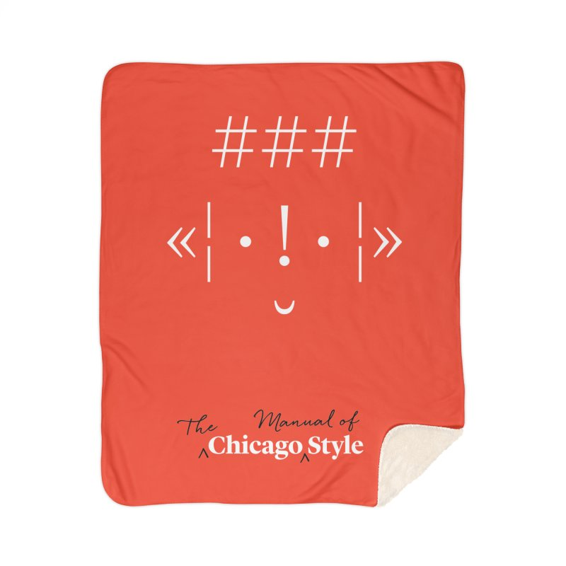 Chicago Style Buddy, White + Black / Kids' Apparel Home Sherpa Blanket Blanket by Chicago Manual of Style
