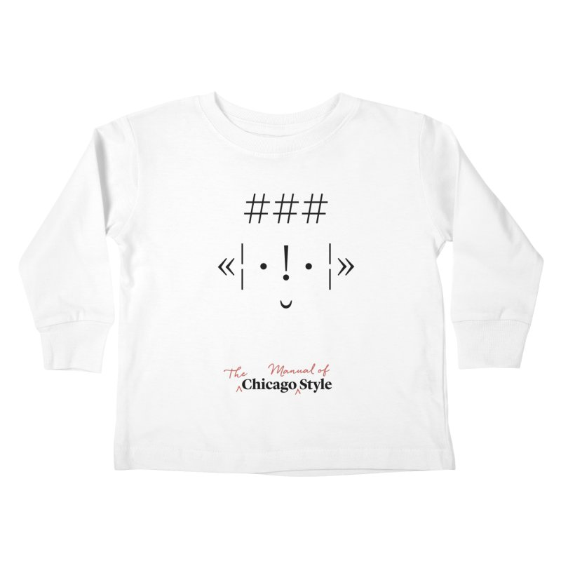 Chicago Style Buddy, Black + Red / Kids' Apparel Kids Toddler Longsleeve T-Shirt by Chicago Manual of Style
