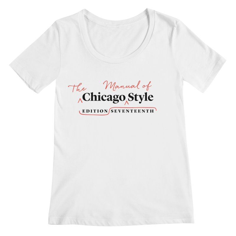 Chicago Style, Black + Red / Women's Apparel Women's Regular Scoop Neck by Chicago Manual of Style