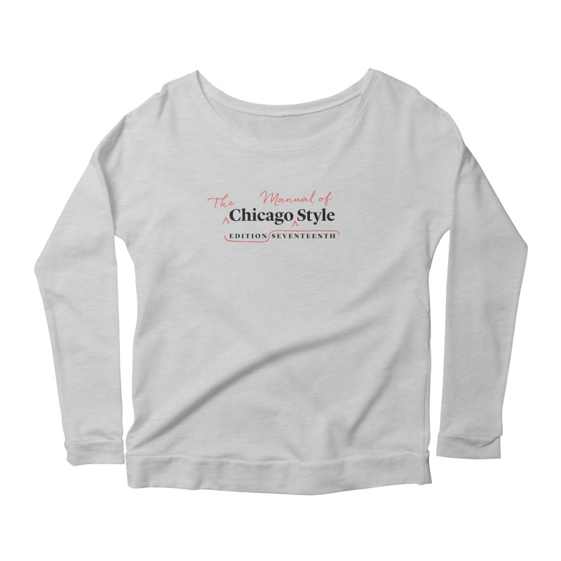 Chicago Style, Black + Red / Women's Apparel Women's Scoop Neck Longsleeve T-Shirt by Chicago Manual of Style