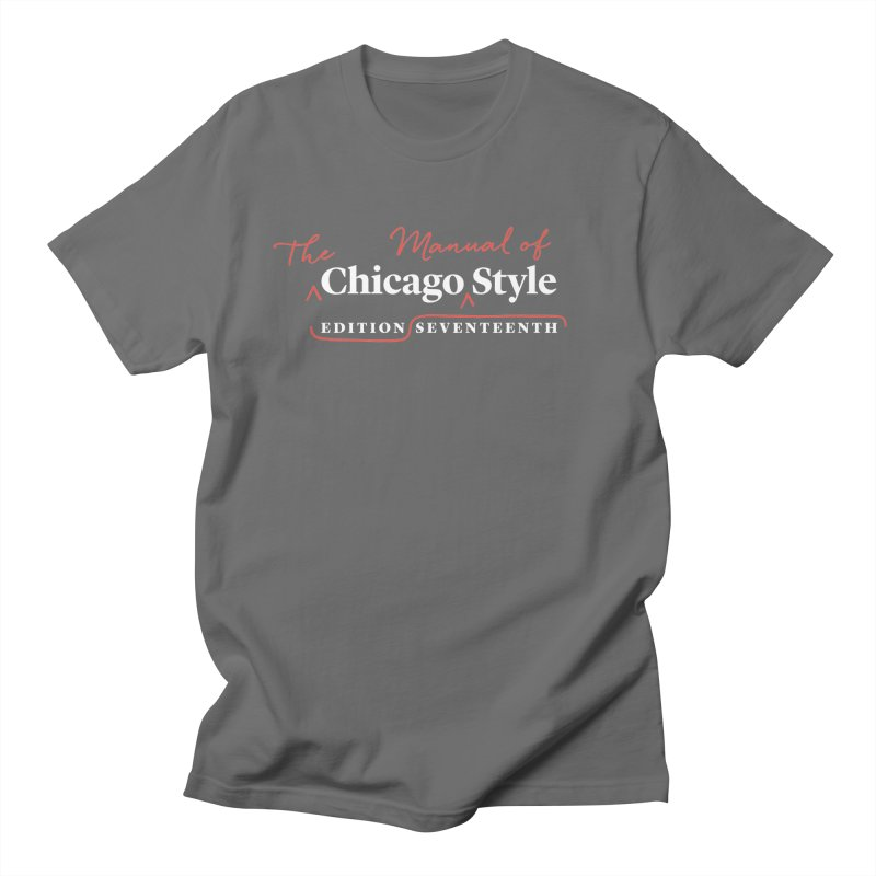 Chicago Style, White + Red / Women's Apparel Women's T-Shirt by Chicago Manual of Style