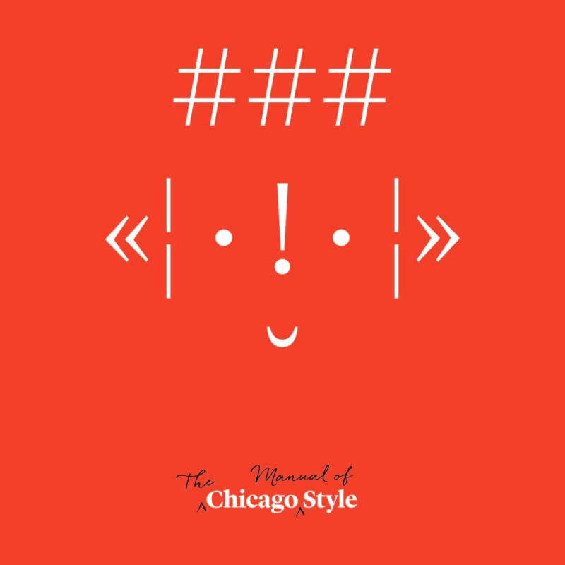 Chicago Style Buddy, White + Black / Adults' Apparel by Chicago Manual of Style