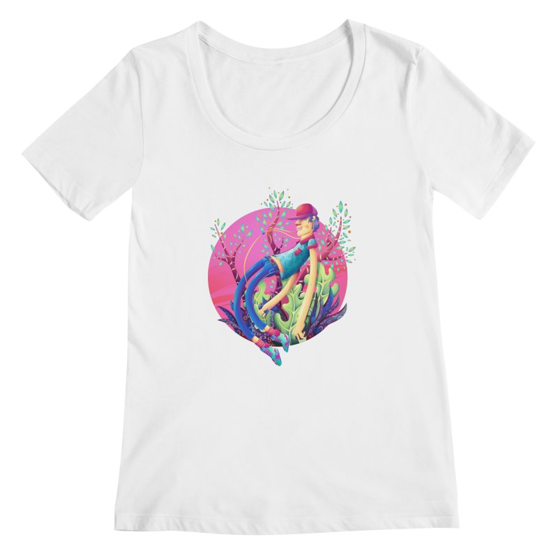 Music+Plants Women's Scoopneck by Chiclobite!