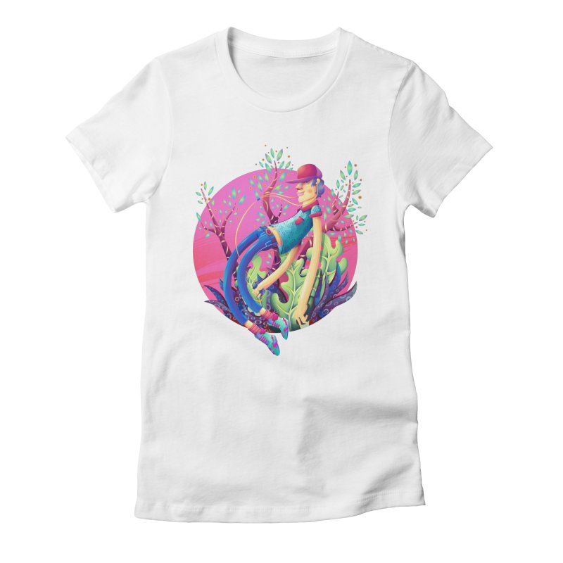 Music+Plants Women's Fitted T-Shirt by Chiclobite!