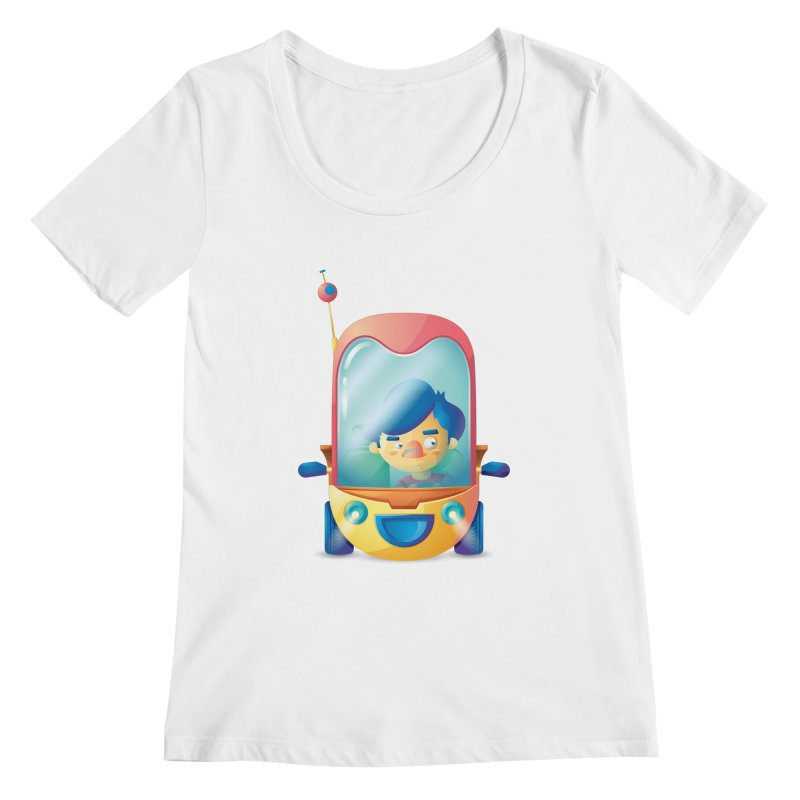 Car Women's Scoopneck by Chiclobite!