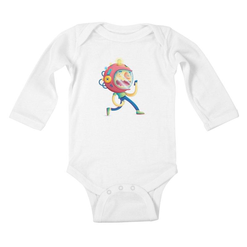 Cosmonaut Kids Baby Longsleeve Bodysuit by Chiclobite!