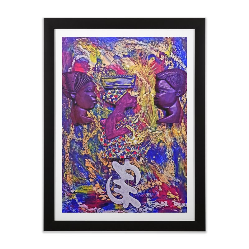 God is Good Home Framed Fine Art Print by Symbols of Communicatios